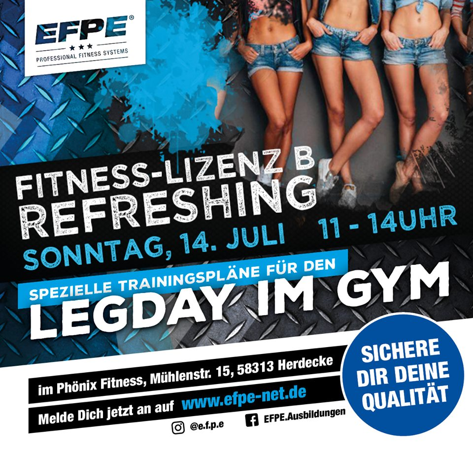 Fit_B_Refresh EFPE ® - FITNESS INSTRUKTOR B-LIZENZ Rrefreshing