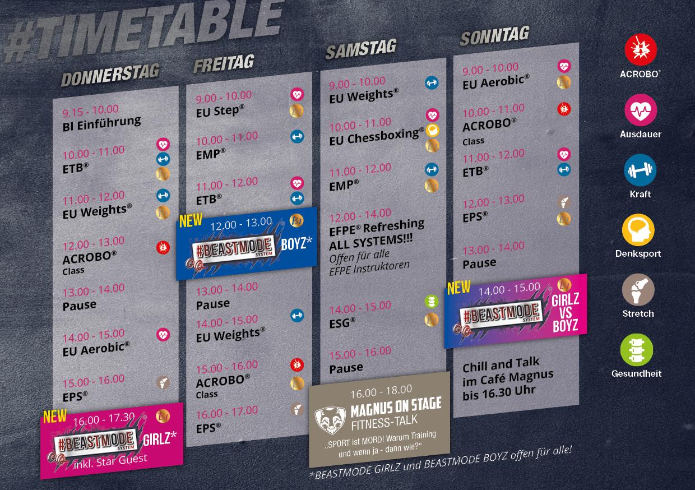 SC Timetable 2019